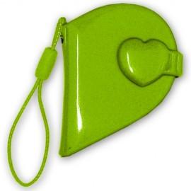 10 Mini Album Covers Corazón Verde (pequeño)
