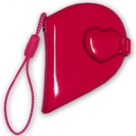10 Mini Album Herzform Rot (groß)