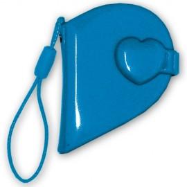 10 Mini Album abdeckt Herz-Form, Farbe blau (klein)