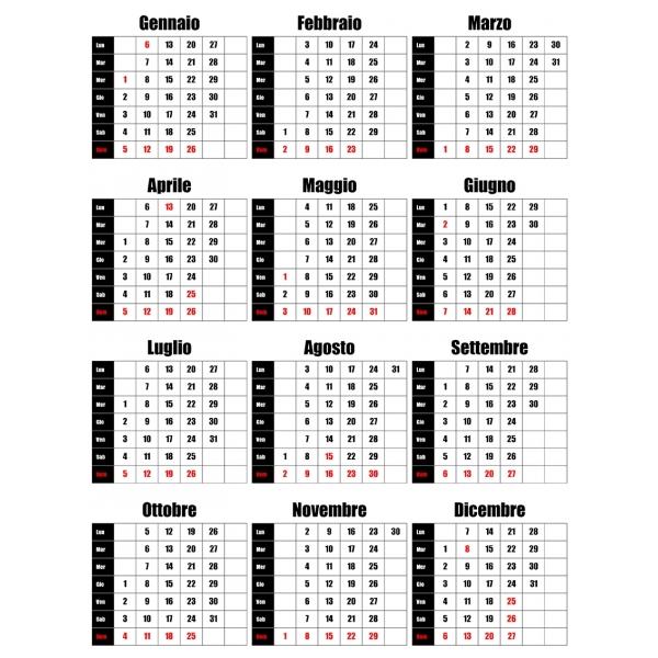 Calendario Maggio 2020.Griglie Calendari 2020