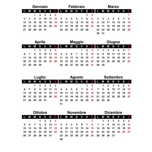 Dicembre Calendario 2020.Griglie Calendari 2020