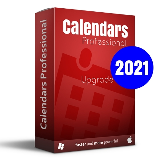 Calendars Pro 2021 Win-Mac Upgrade