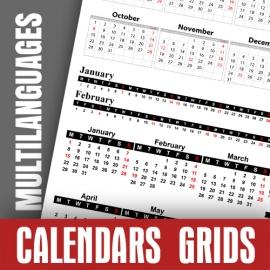 Calendar Data Grids 2021