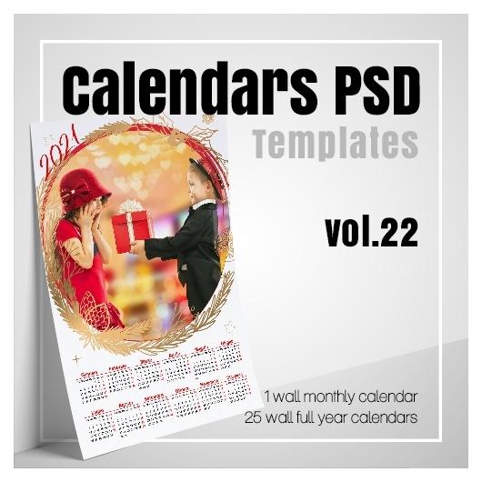 Psd Calendar 2022.Calendars 2022 Psd V 22