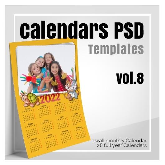 Psd Calendar 2022.Calendars 2022 Psd V 8