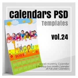 Calendars 2022 PSD v.24