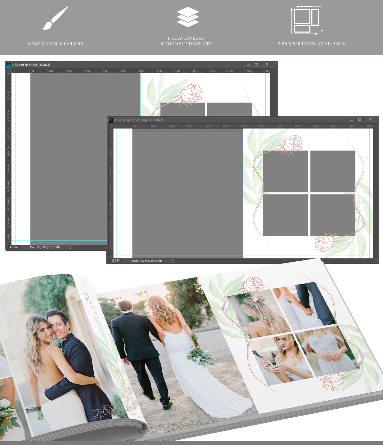 Creative Album v.35 - photo album templates