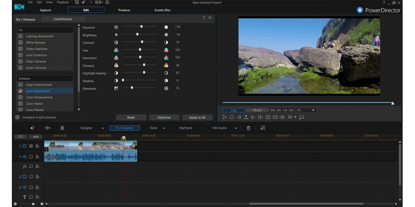Come installare i preset LUT in PowerDirector