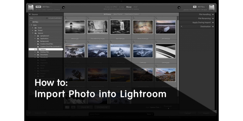 Comment importer une Photo dans Lightroom