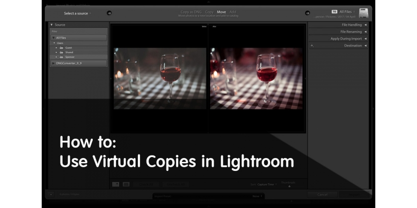 Come utilizzare le Copie Virtuali in Lightroom